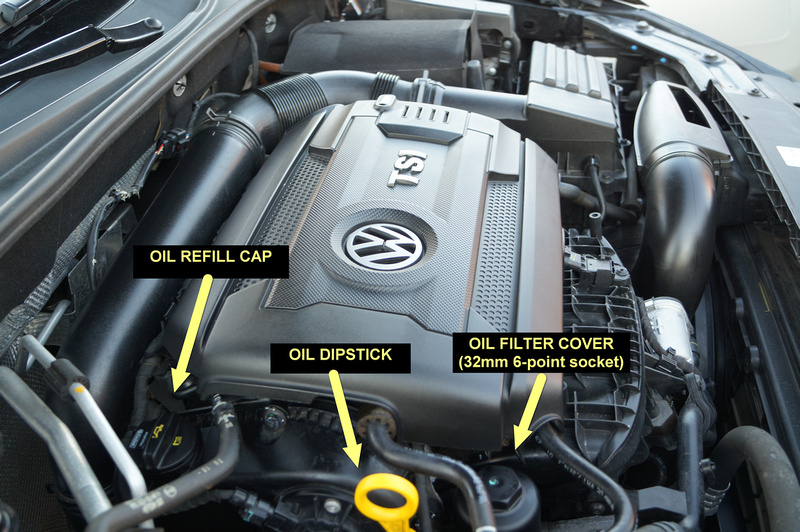 VWVortex.com - 2014 VW Passat 1.8L TSi Oil Change